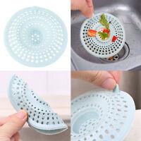 2Way Bath Haar Fänger Stopper-Abflußsieb Drain Schutz Spülbecken Spühle Silikon,