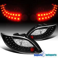 For 2011-2012 Mazda 2 Sport LED Tail Lights Brake Lamps Black Pair