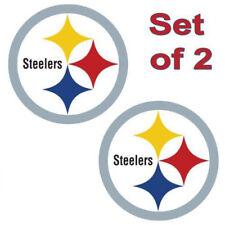 """Pittsburgh Steelers Cornhole Board Decals 12""""x12"""" Set Of 2 Indoor / Outdoor"""