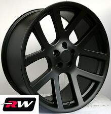 "Dodge Ram Wheels Ram 1500 SRT-10 Satin Black SRT10 Rims 22"" inch 22x10"" 5x139.7"