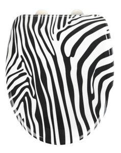 Wenko Wild Zebra Print Soft Closing Toilet Seat 24717100