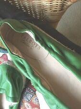 Talbots Green Leather Slip-on Espadrilles Flats Size 10