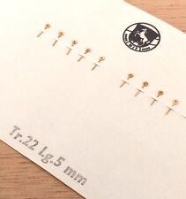 NOS New [ 1 X = 1 hand ] Wit Aguja Tr.22 Lg. 5 mm Golden Segundero Chronograph