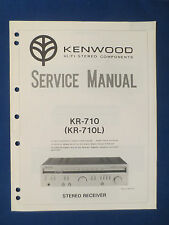 KENWOOD KR-710 RECEIVER SERVICE MANUAL ORIGINAL FACTORY ISSUE GOOD CONDITION