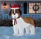 5 ft Pre-Lit LED Airblown St Bernard Christmas Inflatable