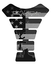 Fallen Soldier Black Miliatry Motorcycle Gas 3D tank pad tankpad protector Decal
