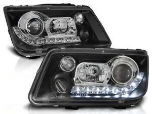 LED HEADLIGHTS LPVWE9 VW BORA 1998 1999 2000 2001 2002 2003 2004 2005 BLACK