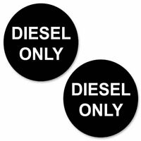 Diesel Only 50mm Stickers - Pack of 2 Car or Van Round Fuel Reminder Decals