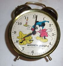 Vintage Bradley  Wind Up Mickey Mouse Alarm Clock Made in Hong Kong NO RESERVE