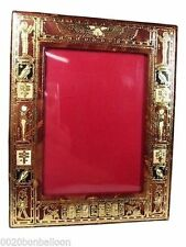 Egyptian Photo Picture Frame Genuine Hand made Leather Handcrafted Ethnic