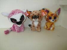ty Beanie Boos - LeeAnn the Lemur, Buckwheat the Lynx and Pablo the Chihuahua