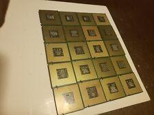 20 x Intel dotted Gold CPU Processors Scrap Recovery Precious Metals