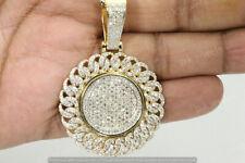 "14K Yellow Gold Finish 1.76 Ct. Diamond Large 2.25"" Cross Pendant Charm Piece"
