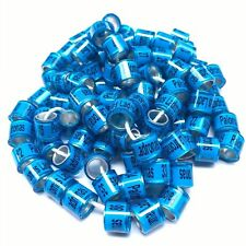50pcs/lot 8mm 2019 plastic aluminum racing pigeon leg ring name phone bands LOGO