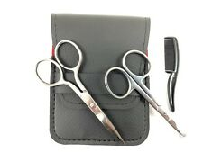 Beard Mustache Scissors Comb Nose Hair Clipper Trimming Travel Care Grooming Kit