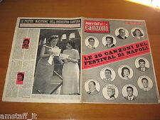 SORRISI E CANZONI=1957/20=FESTIVAL CANZONE NAPOLI=CLAUDIO VILLA=TOTO DE CURTIS=