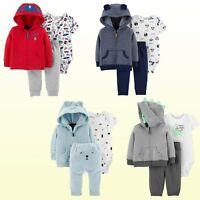 Baby Boys 3-Piece  Little Jacket Set Carters Jacket Pants & Bodysuit New