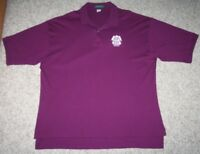 Purple Red Hook ESB Polo Shirt Outer Banks Cotton Solid Men XXL 2XL Short Sleeve