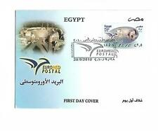 Egypt stamps 2010  euromded first issue  FDC