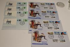 1984-85 AAT ANTARCTICA SCENES,POLE EXPEDITION BASE CANCEL FDC 8 COVERS cv$47