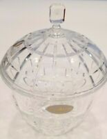 Vintage Fifth Avenue lead crystal clear glass candy dish bowl w/lid - FREE SHIPP
