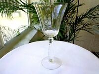 Fostoria Silver Flute Pattern Clear Crystal Claret Wine Glass Multiple Avail