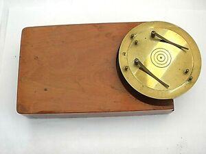 Antique Microscope Slide Ringing Table.
