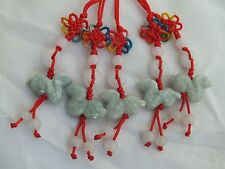 Lot of 5 Chinese Zodiac Butterfly Knot Jade Cell Phone Charm Strap Red SNAKE
