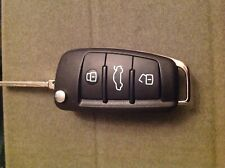 Audi 3 BUTTON REMORT flip car KEY FOB.