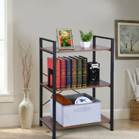 3-Tier Bookshelf Bookcase Display Shelf Storage Wood Furniture Home Office
