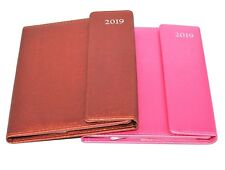 1x A5 2019 Week to view Page Leather Organiser Appointment Office Desk Diary