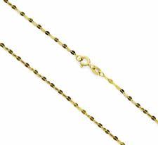 10K Yellow Gold Flat-Link Cable Chain 18 inch 1.5mm Wide - Spring Ring Clasp