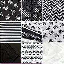 Fat Quarter Skeletons & Skulls Unbranded Craft Fabrics