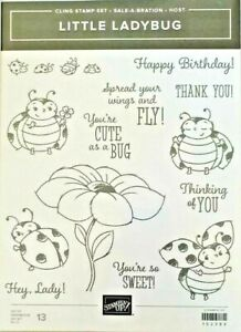 LITTLE LADYBUG Stampin up  cling / red rubber NEW unmounted