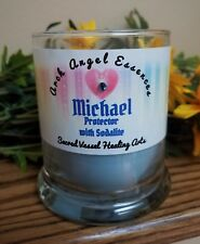 Archangel MICHAEL Eco Soy Candle w/Sodalite Gemstone Chips