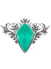 Stephen Webster Green Chrysoprase Superstud Baroque Sterling Silver Ring Sz 7