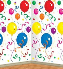 Circus Birthday BALLOONS & CONFETTI BACKDROP Party Decoration PHOTO BOOTH