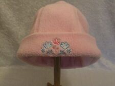 "Gymboree ""Winter Romance"" Pink Fleece Lined Cuffed Hat with Pom Pom, 6-18 mos"