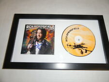 """RICK SPRINGFIELD SIGNED FRAMED """"SONGS FOR THE END OF THE WORLD"""" CD NEW PROOF"""