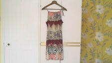 BUFFALO : MULTIPRINT ADJUSTABLE STRAP DRESS with FRONT PEEPHOLE : Size 16 : NWT