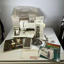 BERNINA RECORD 930 VINTAGE SWISS Electronic SEWING MACHINE w/ EXTRAS+CASE - NICE