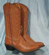 New DOUBLE H Light Brown Wester Cowboy Cowgirl Boots Sz 7.5B