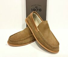 UGG LORNE 1978 COLLECTION MOCCASIN SLIPPERS BROWN CHESTNUT LEATHER -US 9 -NIB