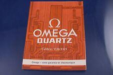 Vintage 1970s Reloj de folleto de instrucciones para calibre Omega Cal 1320 1325 francés