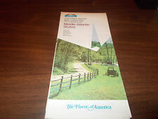 1973 Howard Johnson's Middle Atlantic Vintage Road Map & Directory