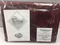 "Vendecor Napkin Set of 4 Israel Made Red Burgundy 18"" Teflon Protect"