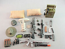 21ST CENTURY GI JOE RIFLE WEAPON GOGGLE RADIO PACK GUN GRENADE COMBAT HAT LOT 21
