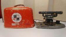 Vintage David White Instruments 8114 Builders Transit Scope Level Hard Case