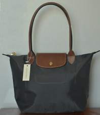 New Longchamp Le Pliage Nylon Tote Handbag Bag Size L Grey