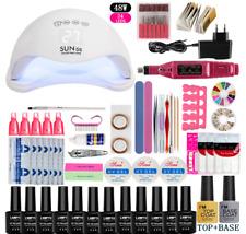 Nail Set UV LED Lamp Dryer With 12pcs Nail Gel Polish Kit Soak Off Manicure Tool